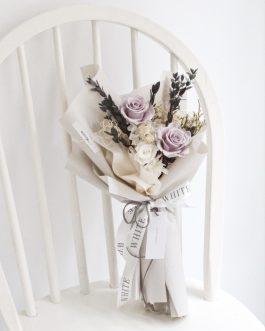永生花花束005- 白色花藝 whiteflower