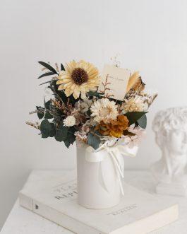 太陽花乾燥花盆|White flower