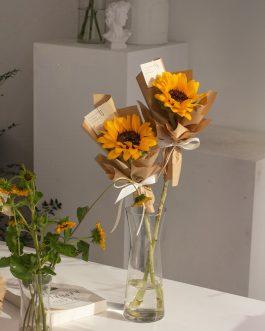 鮮花向日葵單支花束|whiteflower