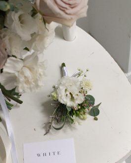 白桔梗鮮花胸花|White flower