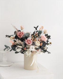 永生花盆-瑪莉|White flower