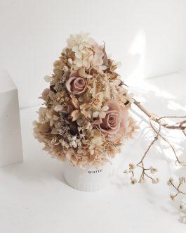 咖啡褐色永生聖誕樹(L)|WhiteFlower
