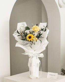 暖陽乾燥花束|White flower