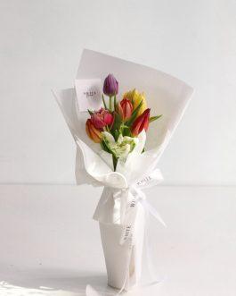 鬱金香鮮花束-繽紛|White flower